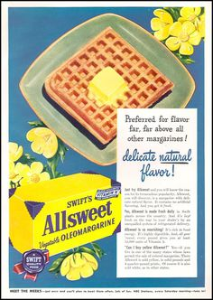 Yellow margarine! Get it where you can! - Vintage Ads