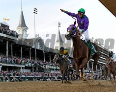 Victor Espinoza is jubilant after winning the 140th running of The Kentucky Derby on California Chrome Saturday evening May 3, 2014 in Louisville, KY. Skip Dickstein Photo
