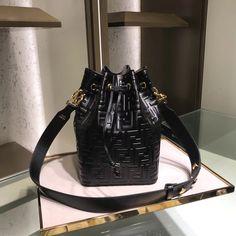 6e1480997606 Fendi woman wide strap bucket drawstring shoulder bag original leather  version  drawstringshoulderbag
