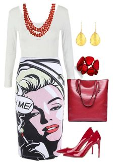 """Marilyn Monroe Me"" by tweenpop on Polyvore featuring Bling Jewelry, INC International Concepts, Latelita and Valentino"