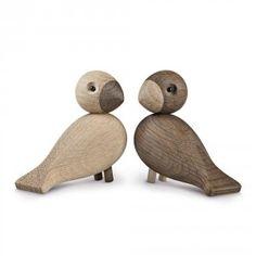 Set de 2 Oiseaux Lovebirds - Kay Bojesen - Fleux