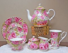 love this tea set  http://roses-and-teacups.com/royal-patrician-tea-set.php