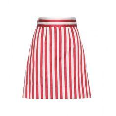 Dolce & Gabbana Striped Skirt ($425) ❤ liked on Polyvore