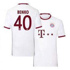 Bayern Munich Third 16-17 Season White #40 Benko Soccer Jersey [I491]