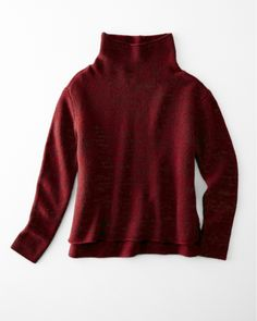 Eileen Fisher Long-Sleeve Funnel-Neck Sweater - Garnet Hill  208