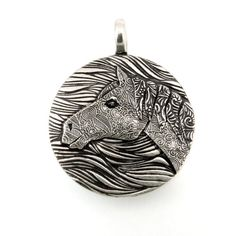 Sterling Silver Horse Pendant 960j by TheSilverPendant on Etsy