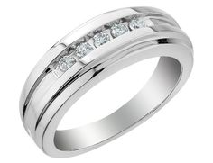 white gold men's diamond wedding ring