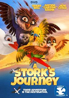 A Stork's Journey [DVD]: Orphaned at birth and raised by storks, the sparrow Richard believes he is a stork too! Determined to prove he is a stork after all, Richard ventures south on an epic adventure to unleash his true potential. Cartoon Movies, Hd Movies, Movies To Watch, Movies Online, Movie Film, 2017 Movies, Disney Movies, Movies Free, Drake Bell