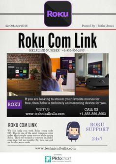 Roku Com Link 1-855-856-2653 TOLL FREE