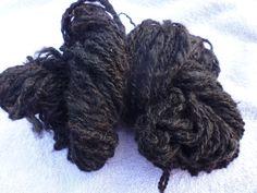 hand spun black alpaca yarn/wool by RebeccasWool on Etsy