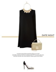 """""""Date Night"""" by anja-173 ❤ liked on Polyvore featuring McQ by Alexander McQueen, Gianvito Rossi, Furla, Warehouse, Louis Vuitton, DateNight, 60secondstyle and LastMinuteDate"""