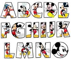 Mickey alphabet A - O Disney Mickey Mouse, Mickey Mouse Letters, Mickey Mouse Y Amigos, Mickey Mouse Drawings, Mickey Mouse Classroom, Theme Mickey, Fiesta Mickey Mouse, Disney Classroom, Mickey Mouse Shirts