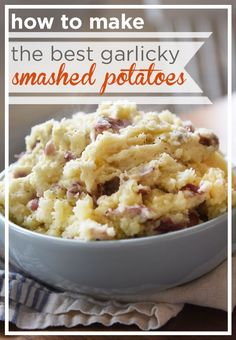 Leave the potato skins on for extra texture, and add roasted garlic for a little zing. To learn more about how to make mashed potatoes exactly the way you like, click here.