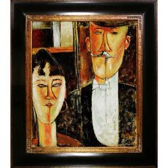 Tori Home Bride and Groom by Amedeo Modigliani Framed Original Painting