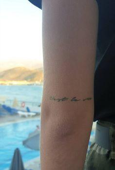 Little Tattoos, Mini Tattoos, New Tattoos, Small Tattoo Quotes, Small Tattoos, Minimalist Tattoo Small, Minimal Tattoo, C'est La Vie Tattoo, Stick Poke Tattoo