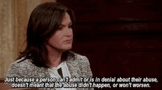 When she spoke out against domestic violence, again and again. | Community Post: 12 Times Olivia Benson Was A Powerful Role Model
