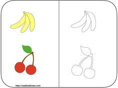 Fise de colorat cu fructe si legume. (7 fise) Blog, Blogging
