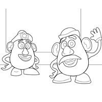 Mr. and Mrs. Potato Head Toy Story Coloring Pages, Coloring Books, Woody, Toy Story Movie, Story Characters, Disney Toys, Woodburning, Sunday School, Colouring