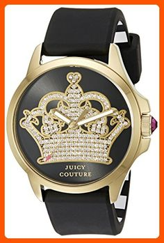 Juicy Couture Women's 1901142 Jetsetter Analog Display Quartz Black Watch - All about women (*Amazon Partner-Link)