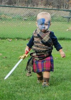 Scottish Kilt is your one stop shop for made to measure Celtic apparel, Collection goes beyond kilts to include sporrans, jackets, shirts, belts & buckles Jock, Men In Kilts, Halloween Disfraces, Baby Kind, Tartan Plaid, Cute Kids, Funny Kids, Children, William Wallace