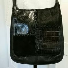 Hp Fossil Cow Hair & Leather Cross Body