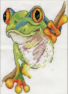 Design Works - Tree Frog - CrossStitchWorld