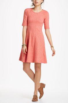 Ganni Pink Threaded Trails Swing Dress