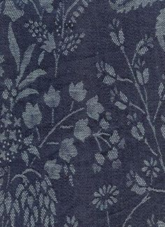 one of my favorite Kathryn Ireland fabrics . . . a Floral Jacquard in Indigo . . .