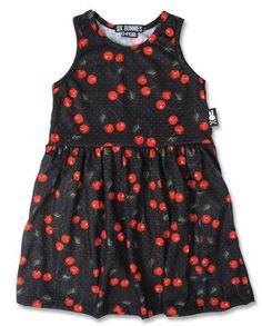 Six Bunnies Black Cherries Dress