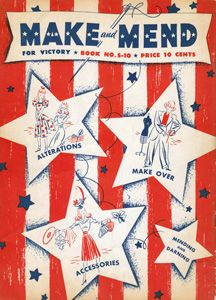 Make and Mend for Victory - free download of a WW2 50 page booklet on repairing, refashioning and remaking clothing. #upcycling #makedoandmend