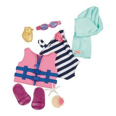 Our Generation® Swim Outfit and Accessories - Fun Day Sun Day™ : Target
