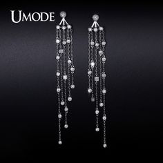 UMODE 2016 New Arrival Fashion Imitation Diamond Dangle Earrings For Women Jewelry Boucle D'Oreille Femme Christmas Gift AUE0240 //Price: $US $15.01 & FREE Shipping //                                                     UMODE 2016 New Arrival Fashion Imitation Diamond Dangle Earrings For Women Jewelry Boucle D'Oreille Femme Christmas Gift AUE0240   Brand : UMODE   Item Type : Cubic Zirconia Pave Dangle Earrings   Main Stone : AAA+ 2.5mm 0.1ct princess cut and 2.5mm 0.06ct Round clear Cubic…
