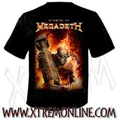 Camiseta de Megadeth - Arsenal.