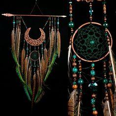 Купить Arrow Copper Moon Dreamcatcher green dreamcatcher brown dreamcatcher в интернет магазине на Ярмарке Мастеров