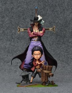 One Piece - FOC Studio - Childhood Young Dracule Mihawk Resin Statue Model One, Figure Model, One Oiece, One Piece Theme, One Piece Figurine, One Piece Seasons, Arte Alien, Photo P, Anime Toys