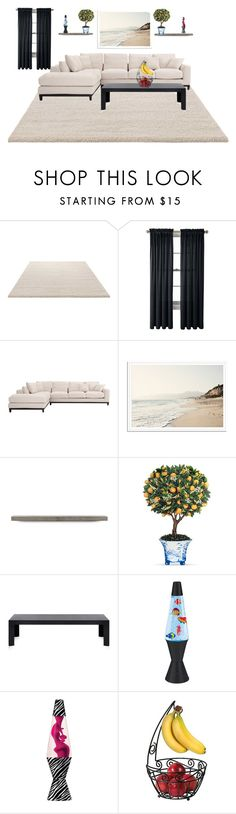 """Treven Color scheme"" by legacy-housing on Polyvore featuring beauty, ESPRIT, Royal Velvet, Lyon Béton, Kartell, Lava and Spectrum"