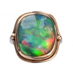 1920s Black Opal Ring