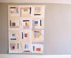 Neutral Improv Log Cabin Baby Quilt   Flickr - Photo Sharing!