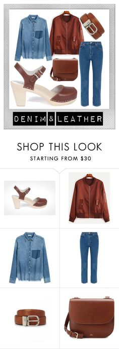 """Denim and Leather"" by maguba ❤ liked on Polyvore featuring Polaroid, Balenciaga, EASTON and A.P.C."