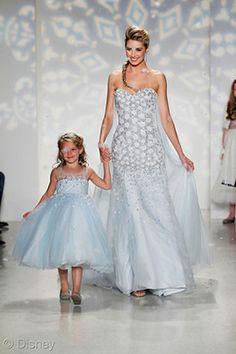 Elsa Wedding Dress & Flower Girl Dress | 2015 Disney's Fairy Tale Weddings by Alfred Angelo Wedding Dress Collection