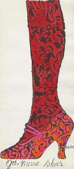 Andy Warhol. 'Gee, Merrie Shoes' 1956