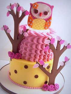 Owl Topper Cake tutorial- SugarEd Productions