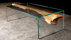 Wood and Glass Furniture by John Houshmand - wood slabs can be found at http://www.BerkshireProducts.com