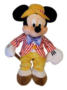 The Mickey Mouse Club: Fun with Music Day Mickey Mouse Plush Toy -- Soft and Cuddly, Disney Authentic