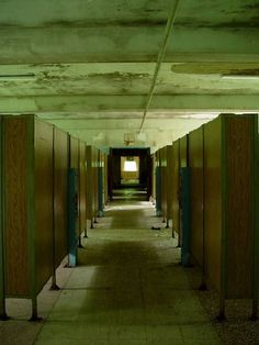 """#abandoned Kings Park Psychiatric New York State """"The Dorms"""" I've been in this room. Equally creepy in person... complete with patient artwork on the walls"""