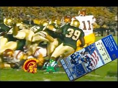 Football Classics - USC vs. Notre Dame 2005. Bush Push= one of the best, if not the best play in football history! This game= one of the best, if not the best game in football history!