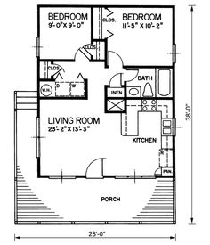 small house plans under 1000 sq ft | Annapolis (784 sq ft ...