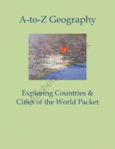 Substitute Lesson A to Z Geography World Cities  Countries  product from Christopher-Mitchell on TeachersNotebook.com