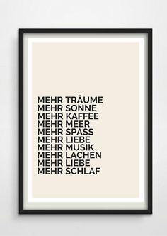Typo Poster mit Motivation für 2016, Neujahr / motvational art print fpr 2016 made by Pap-Seligkeiten via DaWanda.com
