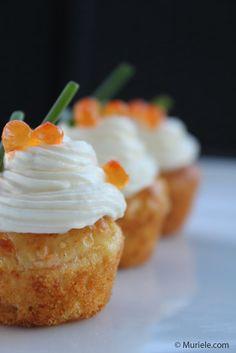 Cupcakes version salée : Saumon fumé